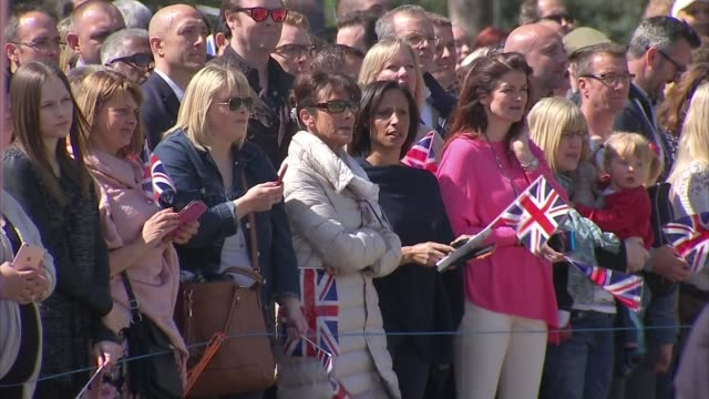 'the queen at 90' queen opens alexandra gardens bandstand **music heard intermittently sot** queen and philip / people on bandstand / people in crowd... - bandstand stock videos and b-roll footage