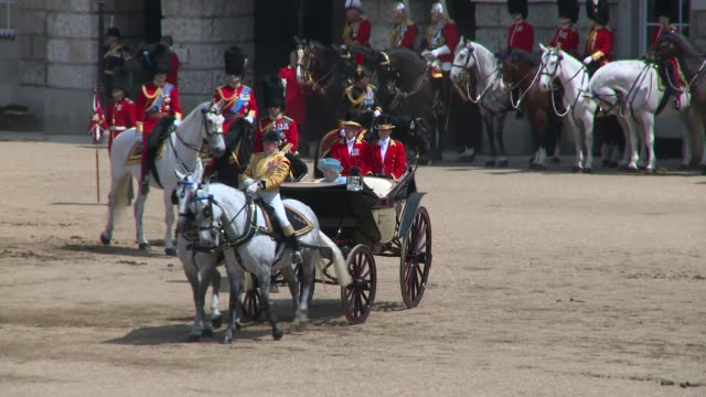 HM The Queen at Horse Guards Parade on June 09 2018 in London England