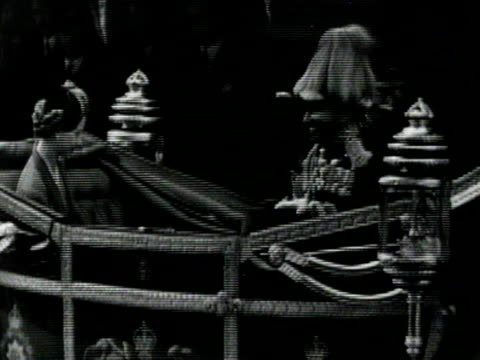 the queen haile selassie and the duke of edinburgh get into a landau carriage outside victoria station at the start of his state visit to britain 14... - state visit stock videos & royalty-free footage