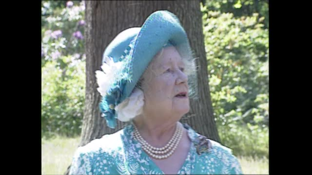 'the queen mother in person' 90th birthday special england berkshire windsor windsor great park various of queen elizabeth the queen mother interview... - queen dowager stock videos & royalty-free footage