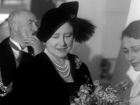 the queen mother tours the international cookery exhibition at the royal festival hall - royal festival hall stock videos and b-roll footage