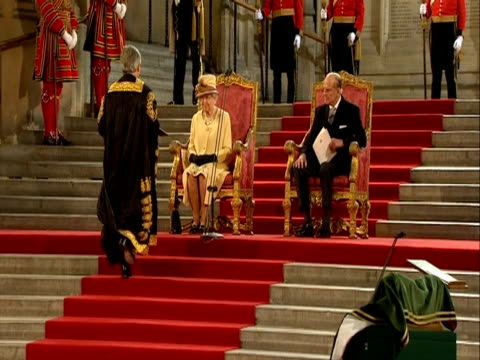 The Queen receives a tribute from the House of Commons speaker Jon Bercow