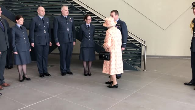 the queen tours the f-35 lightning integrated training centre at raf marham in norfolk. - raf stock videos & royalty-free footage