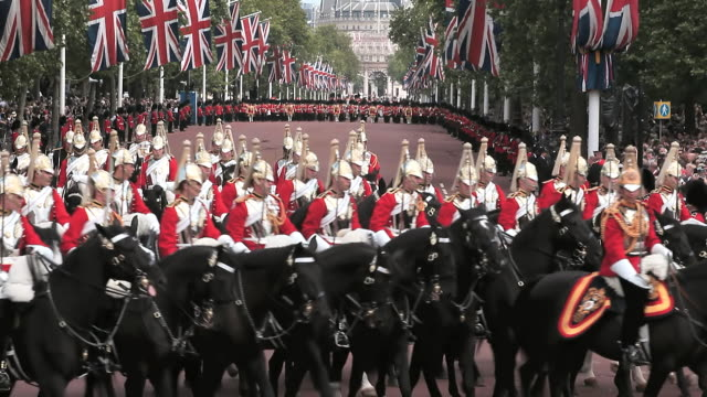 the queens mounted cavalry blues and royals, - recreational horse riding stock videos & royalty-free footage