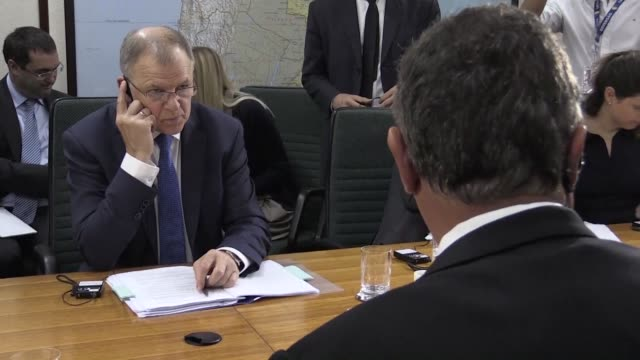 the question is not closed said the european union's health commissioner referring to the tainted meat scandal that hit brazil after he met with the... - landwirtschaftsminister stock-videos und b-roll-filmmaterial