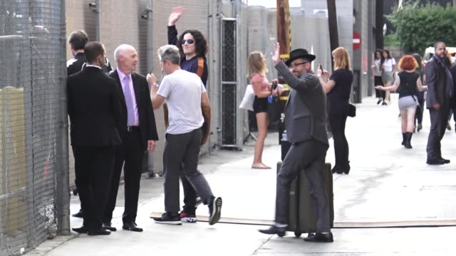 the raconteurs arrive at jimmy kimmel live at el capitan theatre in hollywood in celebrity sightings in los angeles, - el capitan theatre stock videos & royalty-free footage