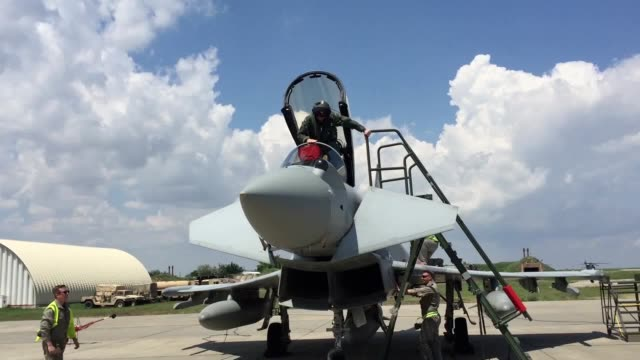 The RAF complete training exercises on the Mihail Kogalniceanu Air Base in Constanta Romania as they join with NATO in an air policing operation...