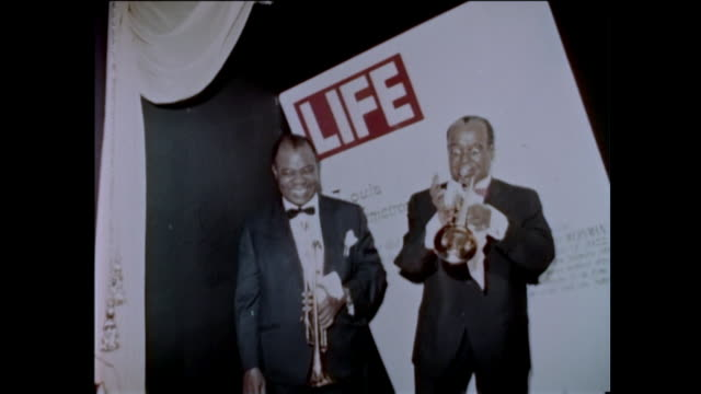 the real louis armstrong makes an appearance at the hollywood wax museum 196s something brand new has been added to the hollywood scene—another wax... - solo performance stock videos and b-roll footage