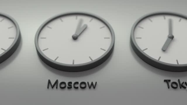 stockvideo's en b-roll-footage met de echte wereld klok, hoofdsteden tijd van de dag - capital cities