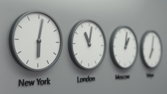 stockvideo's en b-roll-footage met de echte wereld klok lus, hoofdsteden tijd van de dag - capital cities