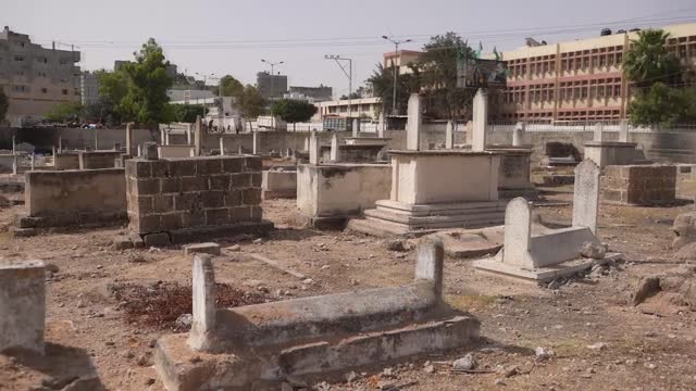 the recent israeli military strikes on the gaza strip in palestine that lasted for 11 days did not even spare the dead buried in various cemeteries,... - gaza strip stock videos & royalty-free footage