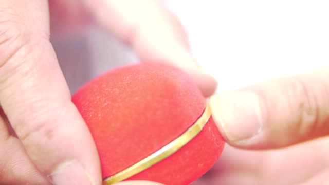 the red box wedding ring - jewelry box stock videos and b-roll footage