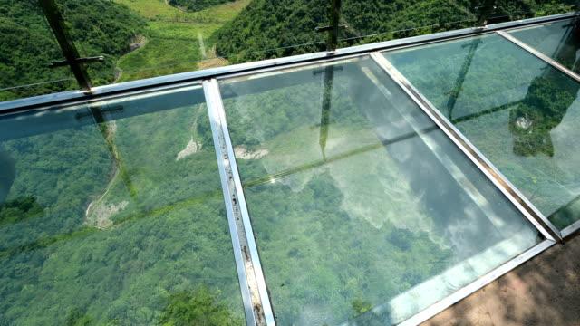 Die Reflexion des Glas-skywalk