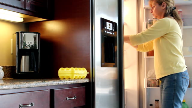 the refrigerator - open refrigerator stock videos & royalty-free footage