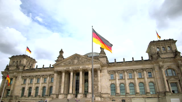 the reichstag in berlin, germany - german flag stock videos & royalty-free footage