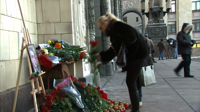the relationship between russia and turkey is famously fragile but in the hours after the russian ambassador was shot dead in ankara both sides were... - assassination of andrei karlov stock videos & royalty-free footage