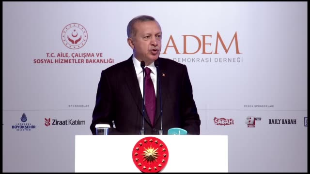 the religion of islam does not justify any gender discrimination against women turkey's president said on friday addressing the '3rd women and... - human joint stock videos & royalty-free footage