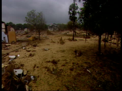 the remains of a shopping district, following the 2004 indian ocean tsunami. - 2004 stock-videos und b-roll-filmmaterial