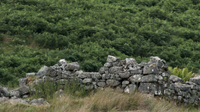 The remains of an old stone built house in Scotland