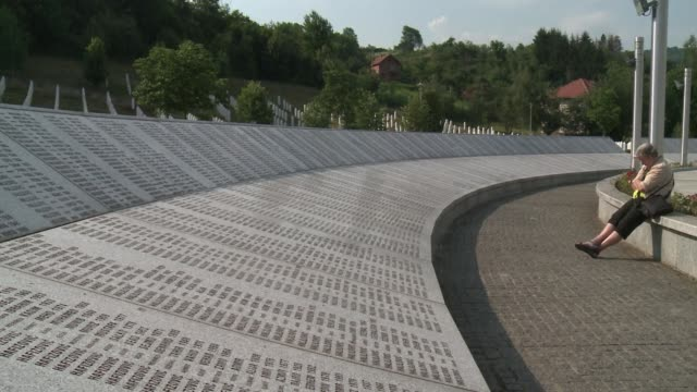 the remains of more than 400 of some 8000 muslim men and boys killed by bosnian serb forces in july 1995 in srebrenica will be buried on july 11 the... - srebrenica stock videos and b-roll footage