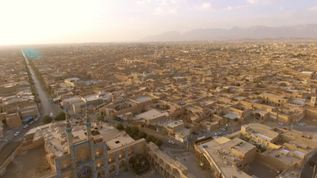stockvideo's en b-roll-footage met the remote desert city of yazd, iran. - midden oosten