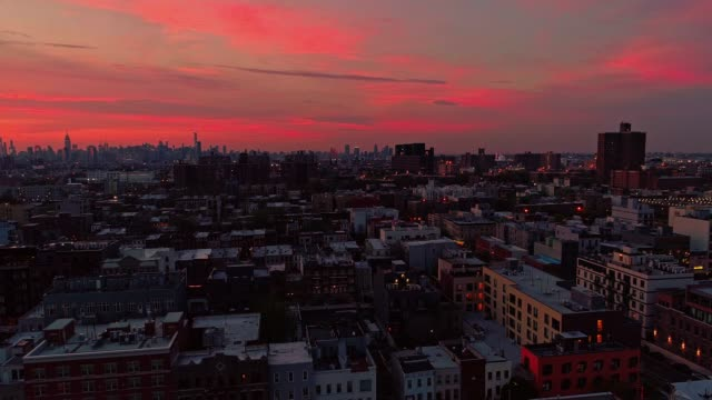 the remote view to the manhattan downtown from brooklyn, over the residential district. - brooklyn new york stock videos & royalty-free footage