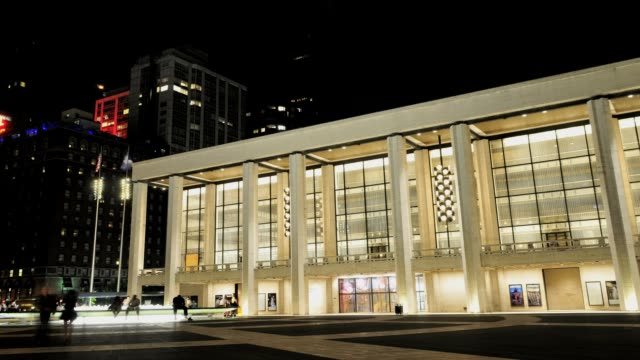 / the renovated lincoln center performing arts center, broadway, upper west side; manhattan, new york city, usa lincoln center, new york city on july... - 2013 stock videos & royalty-free footage