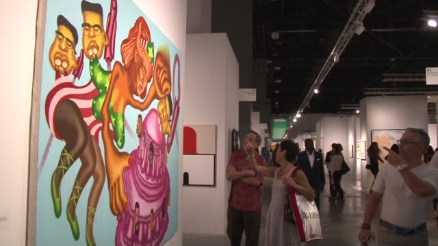 The renowned contemporary art fair Art Basel opens in Miami Beach