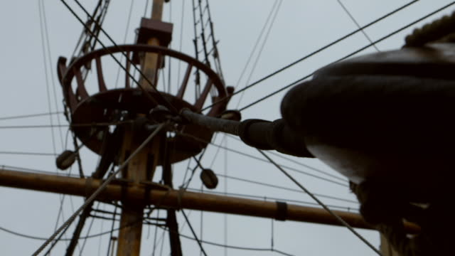 the replica of the golden hinde, london - timber stock videos & royalty-free footage