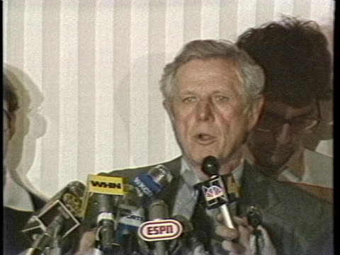the representative for major league baseball owners, ray grebey states that the baseball strike settlement was not a victory for either side, the... - sport stock videos & royalty-free footage