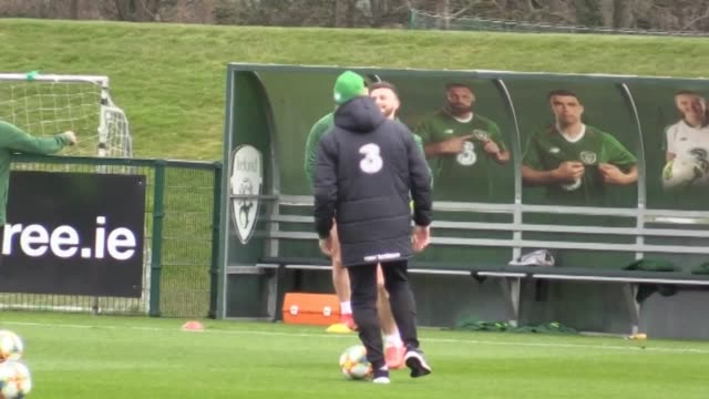the republic of ireland squad training at abbotstown, dublin, on monday ahead of saturday's euro 2020 qualifier in gibraltar. - international team soccer stock videos & royalty-free footage