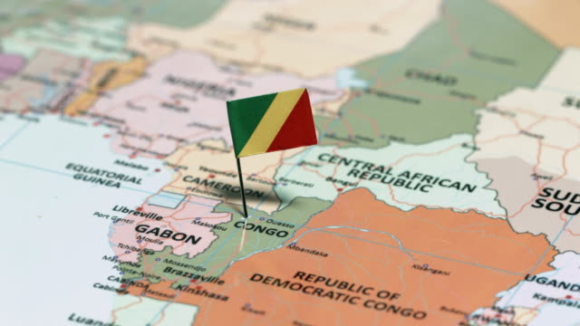 the republic of the congo with national flag - suez canal stock videos & royalty-free footage