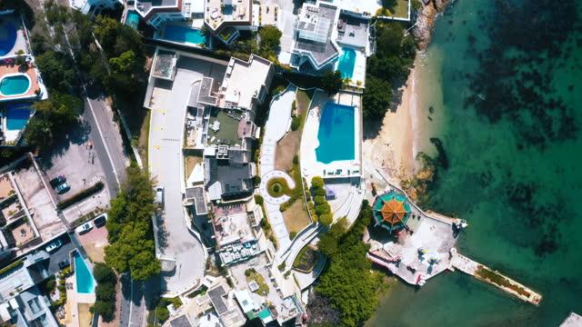 the repulse bay on the south east coast of hong kong island. hong kong - tourist resort stock videos & royalty-free footage