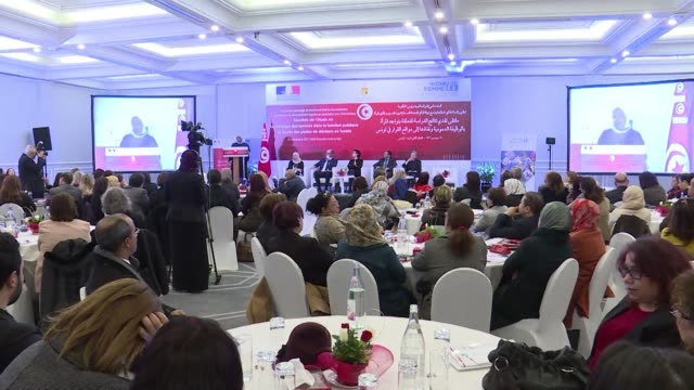 the results of a government study on the presence of women in the public service and their access to decision making positions in tunisia were... - executive director stock videos & royalty-free footage