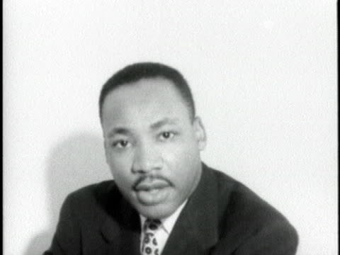 the reverend martin luther king says that in the light of the supreme court's mandate on racial segregation the 12month boycott of montgomery... - racial segregation stock videos & royalty-free footage