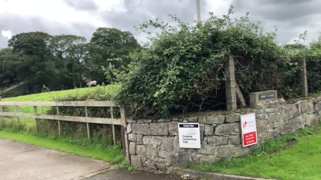 the rhyd y galen campsite near caernarfon in north wales where a woman was critically injured when a car was driven into tents four campers were... - camping stock videos & royalty-free footage