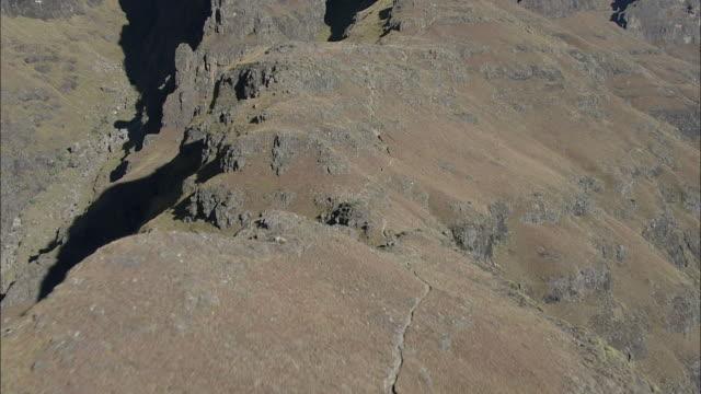 the ridge of the drakensberg mountain range. available in hd - drakensberg mountain range stock videos & royalty-free footage