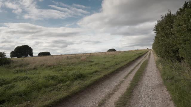 the ridgeway near avebury an ancient trackway, britains oldest road - avebury stock videos & royalty-free footage