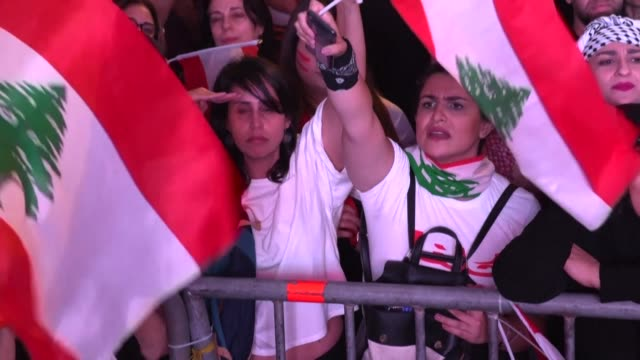 the right to citizenship is one of many long standing demands to have found new life in the mass protests sweeping lebanon since october 17 - lebanon country stock videos & royalty-free footage