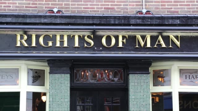 the rights of man public house in lewes is named in honour of the seminal work written by local resident thomas paine – a book which inspired both... - french revolution stock videos & royalty-free footage