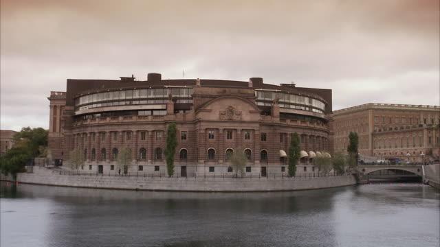 the riksdag building stockholm sweden. - swedish culture stock videos & royalty-free footage