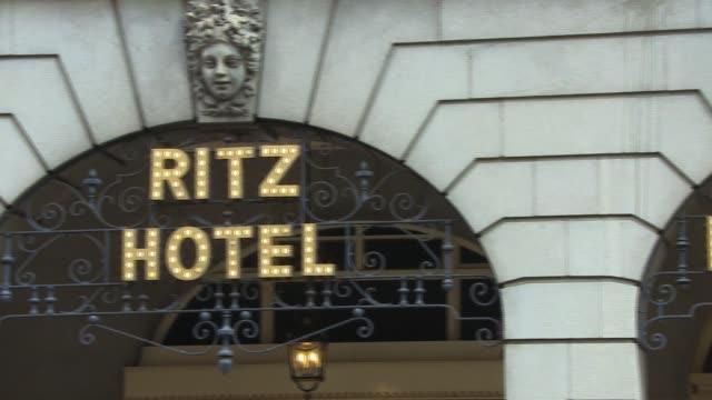 the ritz celebrity hotspots external general views on july 29 2014 in london england - gesamtansicht stock-videos und b-roll-filmmaterial