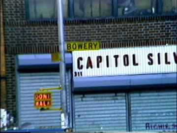 the ritz - now webster hall, and the bottom line. music clubs in new york city on january 01, 1981 in new york, new york - greenwich village stock videos & royalty-free footage