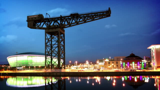 The River Clyde and Finnieston Crane, Glasgow, Scotland