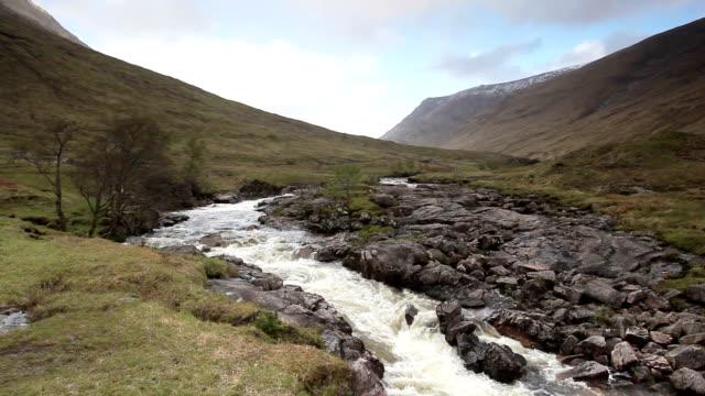 The river Etive in Glen Etive, Scottish Highlands.