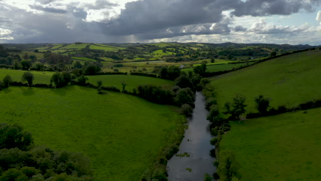 the river fane tracks the border between ireland and northern ireland to lough ross on august 28 2019 in castleblayney ireland the 310m/500 km border... - northern ireland stock videos & royalty-free footage