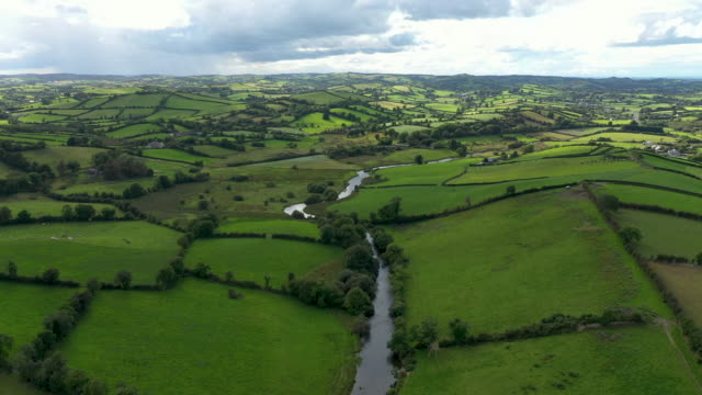 the river fane tracks the border between ireland and northern ireland on august 28 2019 in cullaville ireland the 310m/500 km border runs through... - high up stock videos & royalty-free footage