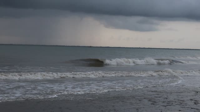the river mouth of an island of sunderbans delta strongly influenced by wave process sunderbans south 24 pargana west bengal india july 27 2019 - west bengal stock videos and b-roll footage