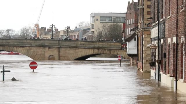 the river ouse has burst its banks, flooding streets in york, as communities across the uk cope with the aftermath of storm dennis. sixteen flood... - river ouse stock videos & royalty-free footage
