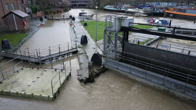 the river ouse in york floods as rain and recent melting snow raise river levels on january 21 in york, england. storm christoph is the first named... - river ouse stock videos & royalty-free footage
